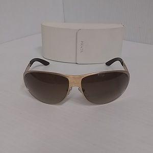 Prada sunglasses spr 59i unisex gold frame